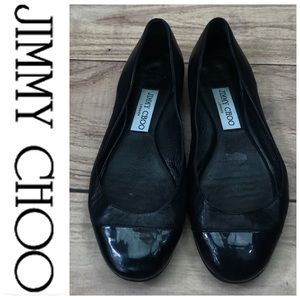 💕SALE💕Jimmy Choo Black Leather Ballet Flats